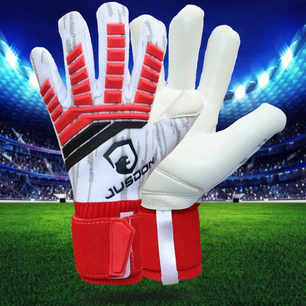 top popular Jusdon new model adults free shipping Latex fabric Professional Soccer football Goalkeeper Gloves without fingersave 2019