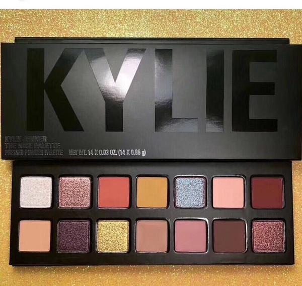 top popular Kylie Makeup Palette Nice Eyeshadow palette Pressed Powder Eye Shadow Powder 14 colors in stock free shipping 2019