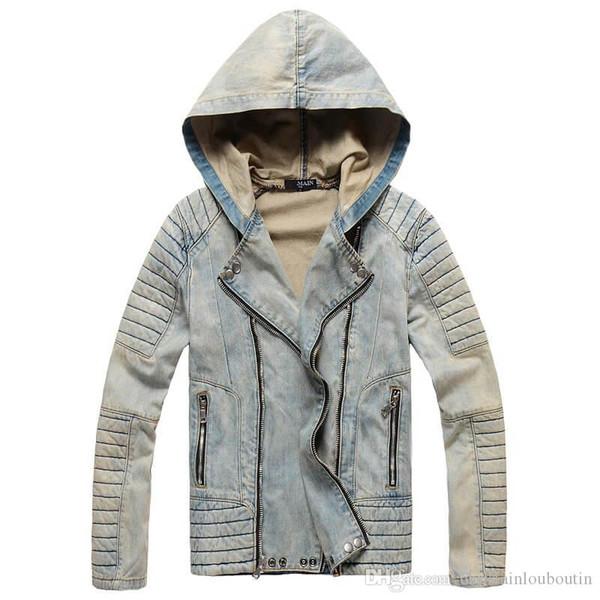 Fashion Men Denim extended Jacket longline hip hop streetwear slim women justin bieber swag clothes harajuku rock t shirt