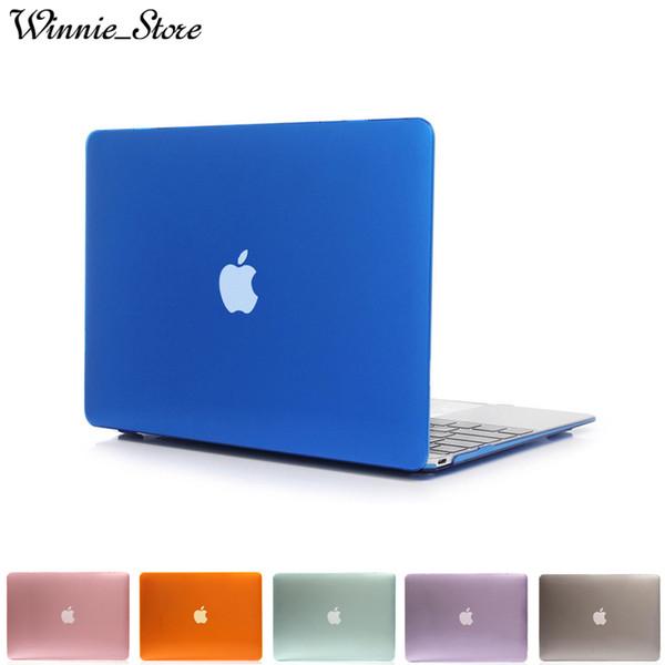 Transparente estojo de cristal para macbook air pro com retina 11 12 13 15 polegada Novo Pro A1706 A1708 A1707 A1932 casos de capa de laptop