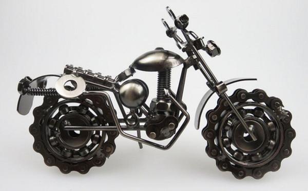 골동품 홈 장식 오토바이 모델 창조적 인 선물 연철 장식 데스크탑 장식 modelmotorcycle 장식 금속 공예