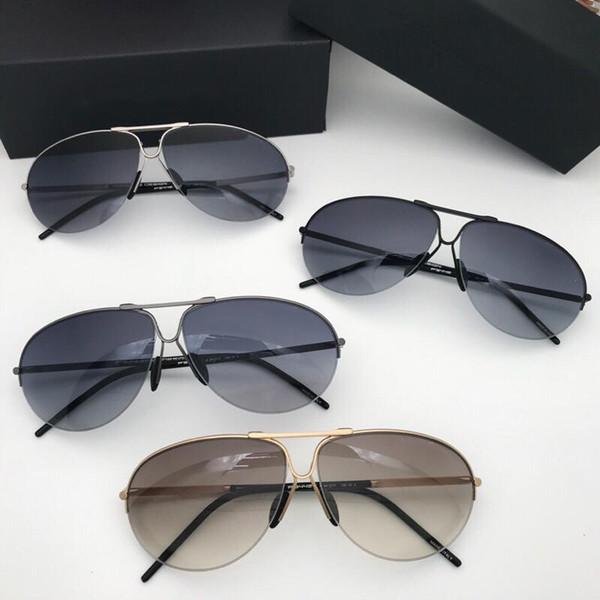 Frete Grátis autêntico 8442 luxo moda cor filme homens óculos de sol óculos de armação de placa de alta-grade vêm com o caso