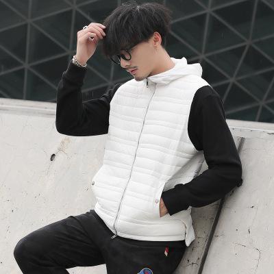 2018 Slim Jacket Mens Fashion Down Coat Jackets With White Duck Down Vest ollar Men's Brand Designer Jacket Coat Down Sleeveless