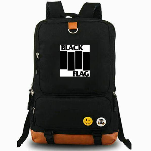 Black flag rucksack My war daypack Punk band music computer schoolbag Leisure day pack Sport school bag Outdoor backpack