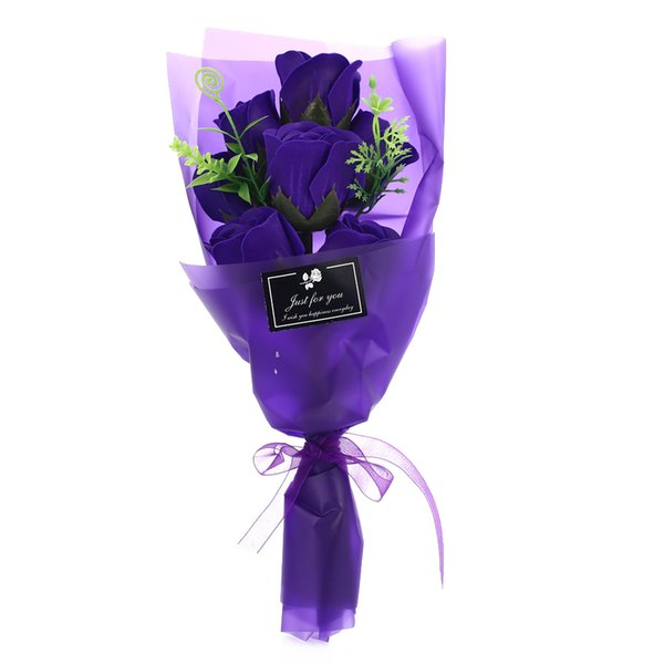 7PCS/Set Soap Flower Artificial Rose Bouquet Flowers For Valentine'S Day New Year Gift Wedding Party Artificial Flower