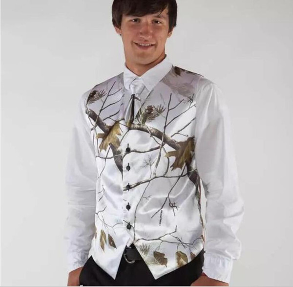 2019 white real tree camo mens wedding vests outerwear groomsmens vests realtree spring camouflage slim fit mens v-neck ves thumbnail