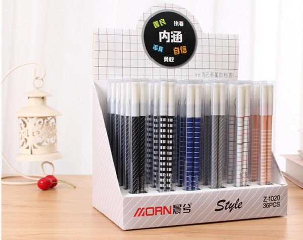 korea lovely funny word gel ink pen cartoon stationery prize kawaii student learning writing pen black neutral 36pc/lot