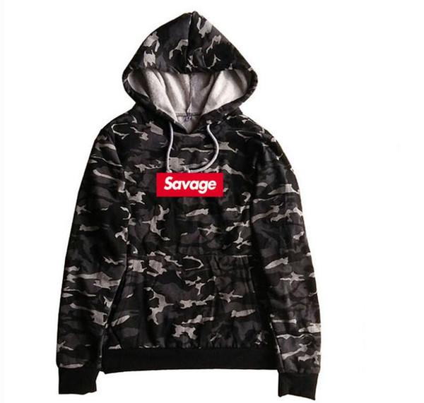 Trend Hoodie Europa und Amerika Savage klassische Straßen Trend Hip Hop Streetdance LOGO Sweatshirt Designerkleidung hohe Qualität