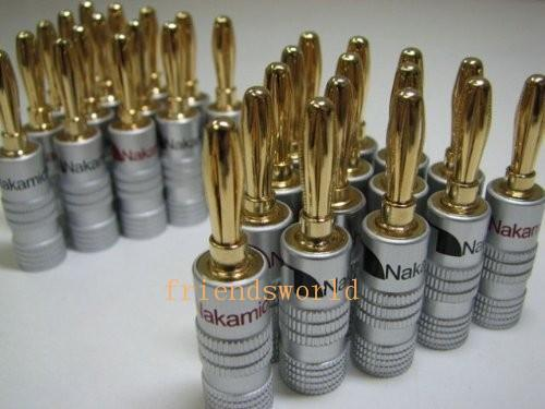 Electronics High Quality Nakamichi 24K Gold Speaker Banana Plugs Connector 500pcs/lot Free Shipping 123