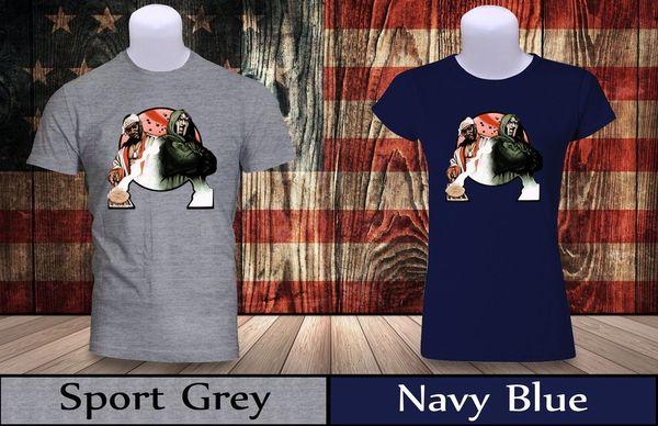 Ghostface Killah & MF Doom T-Shirt Mens/Womens Navy&Grey Horror Inspire Shirt 2 Brand shirts jeans Print
