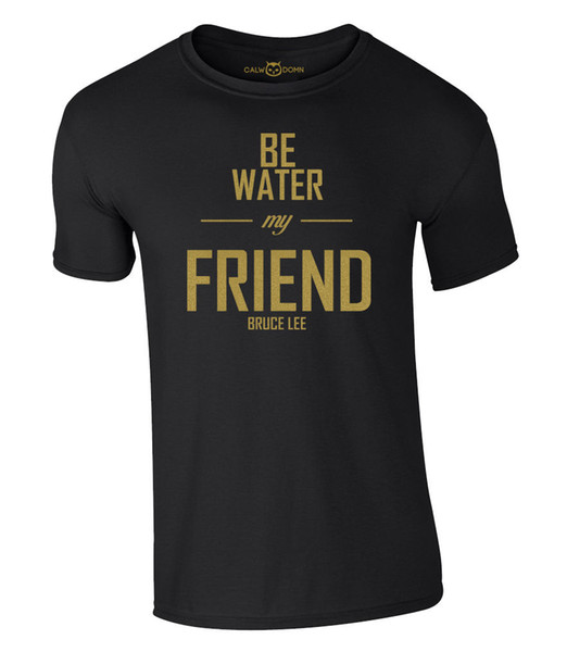 Bruce Lee Be Water My Friend T-Shirt Dragon NEU NEW | S-XXL Funny free shipping Unisex Casual