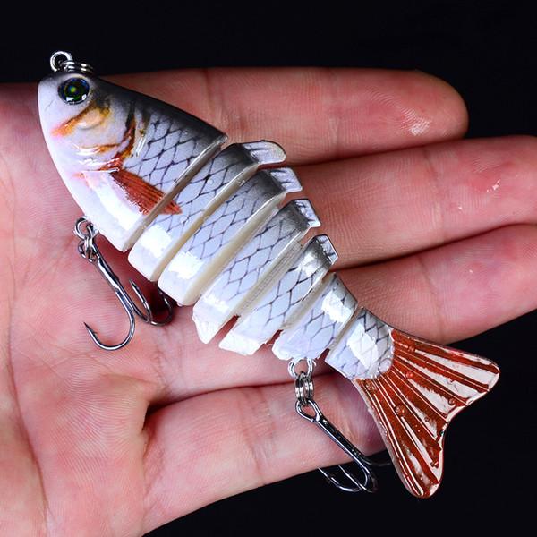 Proberos Fish 1pc Swimbait Fishing Bait 6-7 Sections Fishing Lure 9-10cm/11-15.5g 6# Good Quality Hook Fishing Tackle