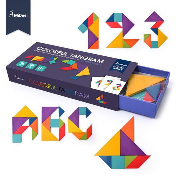 Mideer Tangram Enigma De Madeira Aprendizagem Educacional Para Crianças Crianças Preschool Brinquedos Do Bebê Jigsaw Jogos de Inteligência
