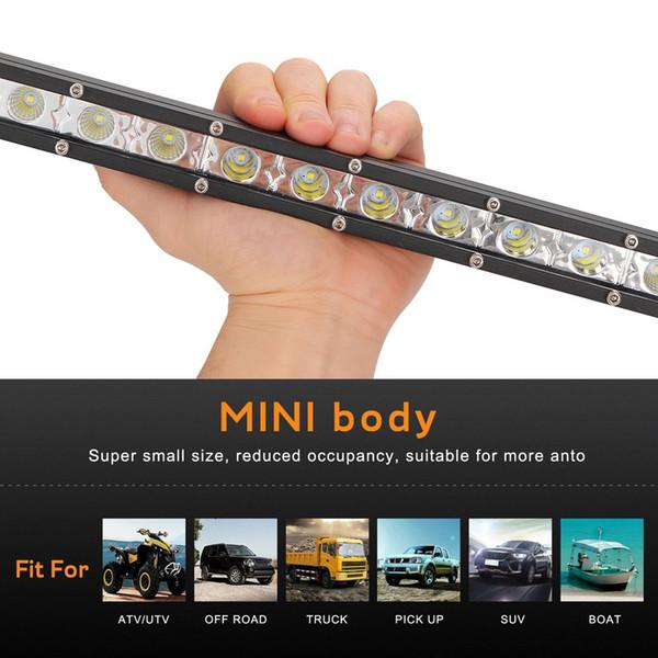 26 pouces 72W voiture led phare travail lumière ultra-mince petite ligne unique bande lumière hors toit toit net