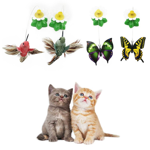 2018 Electric Rotating Colorful Butterfly Funny Dog Cat Toys Bird Pet Seat Scratch Toy For Kitten Cats Intelligence Trainning