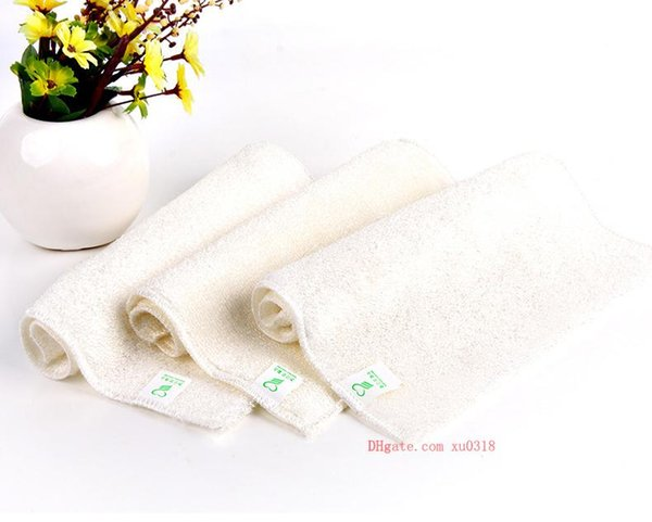 A generation of white double-layer thick bamboo fiber dish towel Korean daily household bamboo fiber rag 27X30cm cleaning cloth