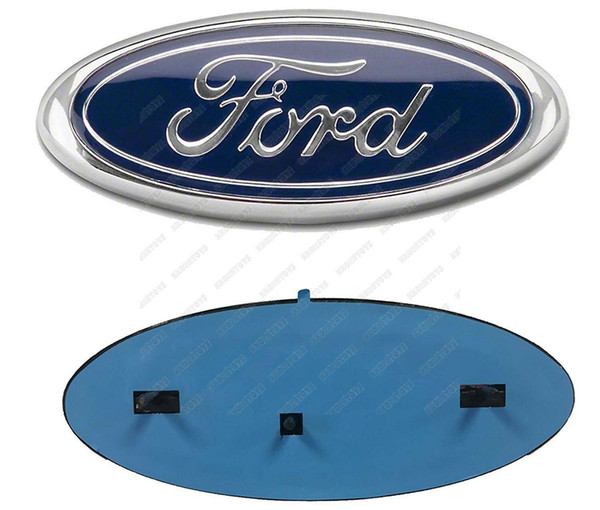 best selling 9INCH EMBLEM Auto Logo 2004-2014 FORD F-150 BLUE OVAL FRONT GRILLE REAR TAILGATE