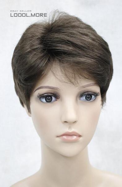 Perruque légère pour femme brune châtaigne brune pour femmes Daily Hair Unisexe Hivision