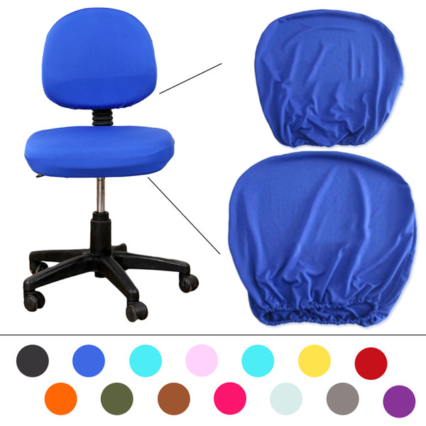 Elastic Fabric Spandex Chair Covers For Office Chair Computer Chair 14 Colors Universal