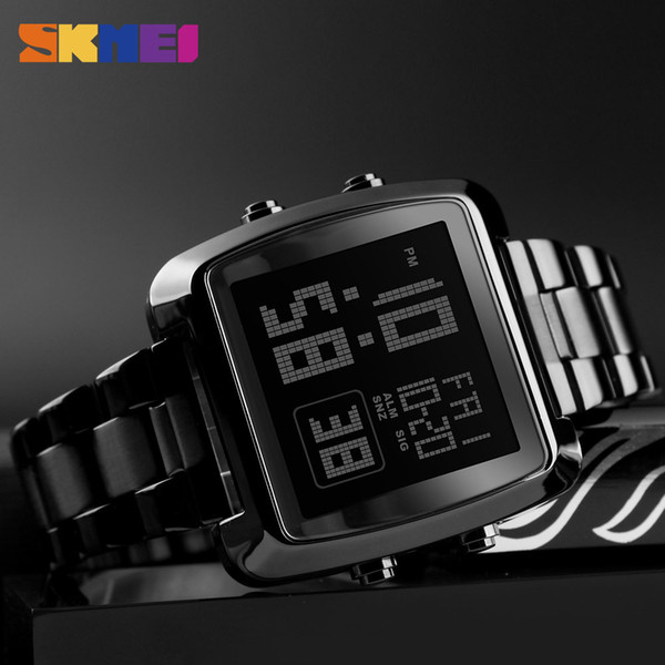 2018 Fashion wholesale Clock Mens Gold Watches Sports Watch Countdown LED Digital Display Men's Watch Wrist Relogio Masculino