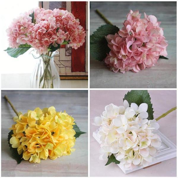 Fuentes de la boda artificial de la manera alta Hydrangea de flores de seda de tela de plástico DIY fiesta de cumpleaños para la decoración Festival KTC