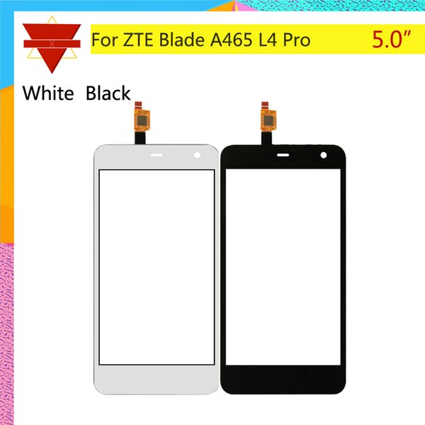 10 Pz / lotto Touch Screen Digitizer Per ZTE Blade A465 L4 Pro Touch Panel Touchscreen Lens Vetro anteriore Sensore NO LCD A 465