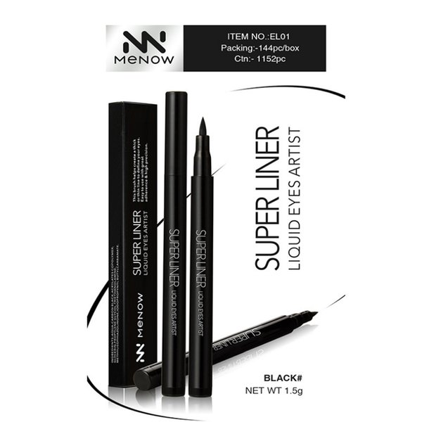 MENOW Brand Cool black Eyeliner Lasting Makeup kiss me Three seconds Quick drying Lasting waterproof Cosmetics