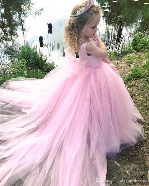 Кружева Высокого Низкой 2020 Тюль цветок девушка платье цветок рука Талия группа Дети партия платье Шнурок Дети партия платья
