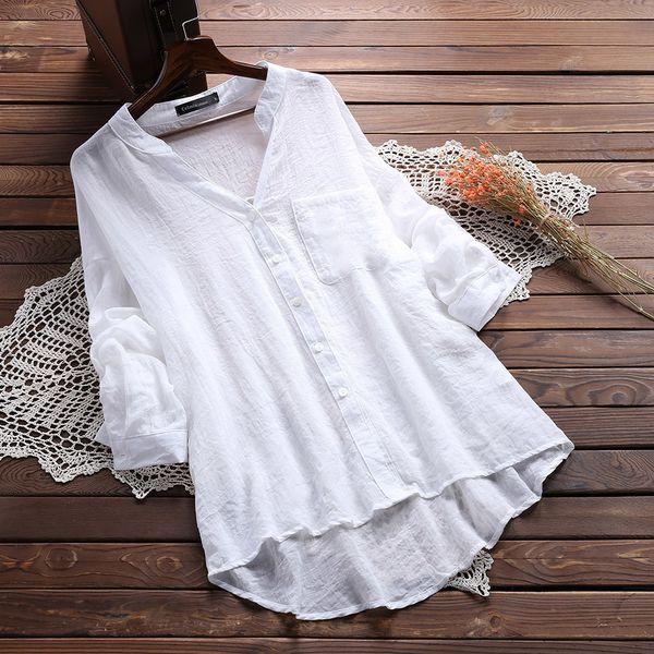Women's Fashionable Shirt Blouse Cotton Autumn Ladies Tops Long Sleeve Blouses Office Camisa Feminina Korean Blouses White