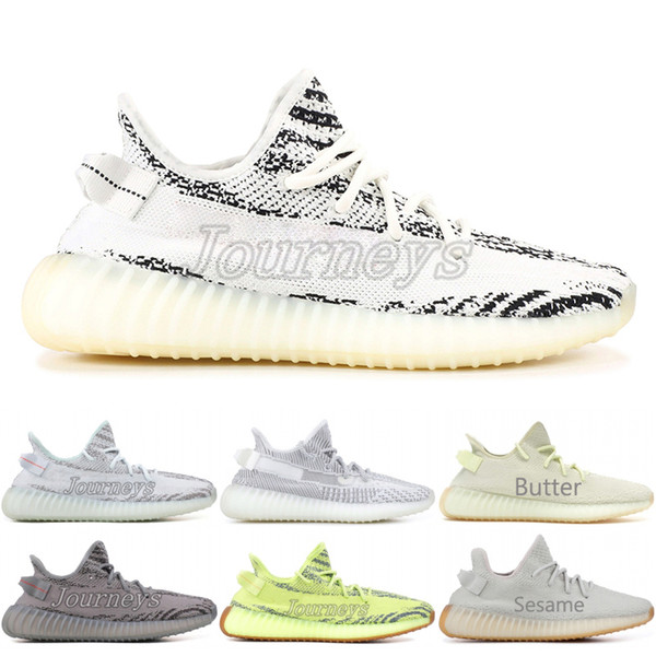 2020 Butter 350 V2 Beluga 2.0 Frozen Yellow Blue Tint Zebra Cp9652 Bred Men Running Shoes Kanye West Designer Sport Sneaker With Box From Journeys,