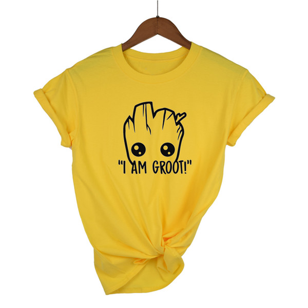 2018 t gömlek kadın Anime bebek pop Yaz komik I AM T Gömlek Serin Tops Tees Homme Tshirt