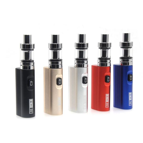 HT 50 kit de vaporizador de cigarrillo electrónico 2200mah 50w e caja de cigarrillo mod 510 hilo 2.0ML tanque e-cigarrillo vape pluma kit
