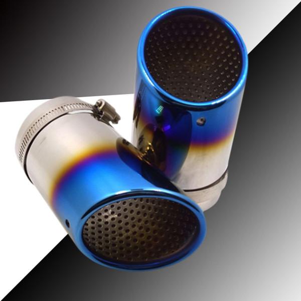 Couvercle d'embout de tuyau d'échappement arrière de silencieux arrière en acier inoxydable pour accessoires d'automobile Accessoires Couvercle d'extrémité d'embout arrière de silencieux Nouveau