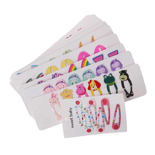60 pezzi fermagli per capelli belli colorati cartoon animali barrettes copricapo accessori per capelli forcine per le ragazze