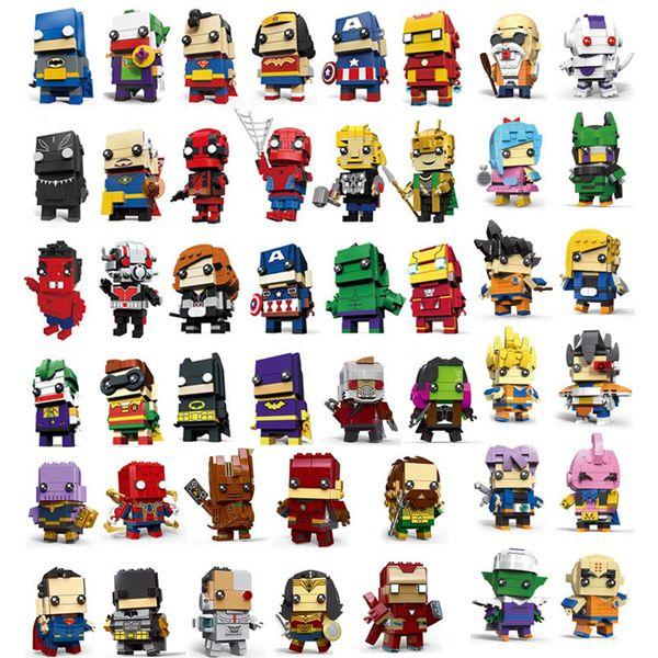 58 Designs anime figures toys marvel avengers spiderman dragon ball goku action figures building blocks anime figures kids toys SS176