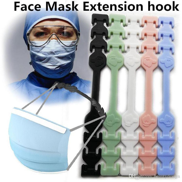 top popular Ready 24h Free DHL Ship Third Gear Adjustable Anti-Slip Mask Ear Grips Extension Hook Face Masks Buckle Holder Face Mask Ear Buckle 2021