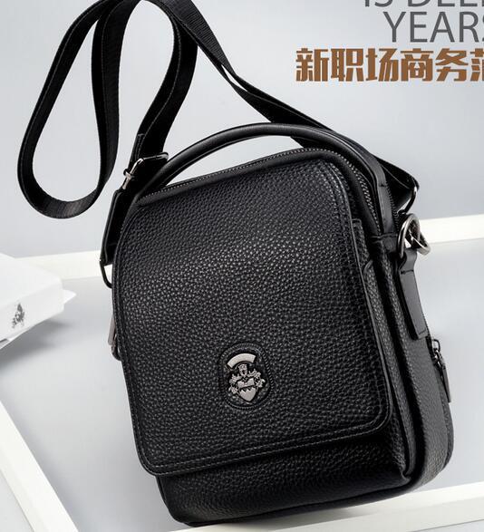 2019 New fashionable Waterproof Briefcase of Men's Bag Chao Brand Leisure Backpack Japanese Men's Single Shoulder Bag Men's Slant Bag