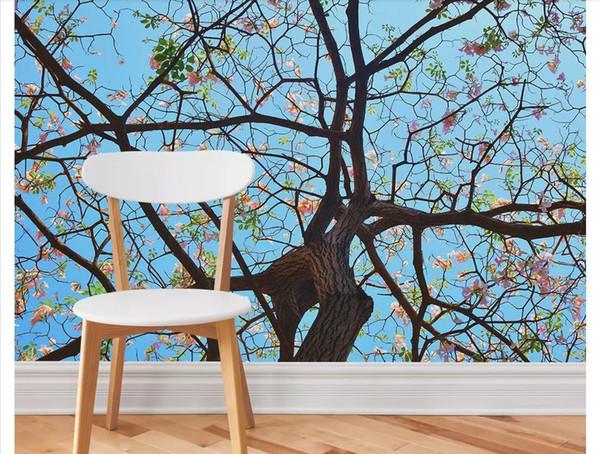 3D Custom Tapeten Wohnkultur Fototapete Moderne minimalistische nordische Hand gezeichnet großen Baum Landschaft Hintergrund Wand Papel de Parede