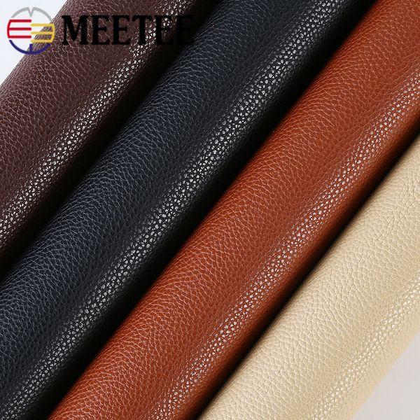 Meetee 1.9mm Thicking PU Tecido De Couro Sintético Sofá Bolsa de Casa Artesanal de Costura DIY Artesanato De Couro Acessórios AP570