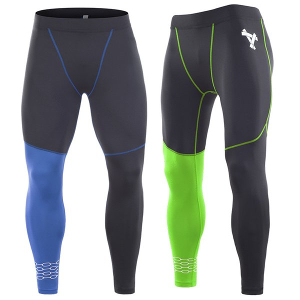 mens compression pants sports running tights basketball gy pants bodybuilding joggers jogging skinny black leggings trousers