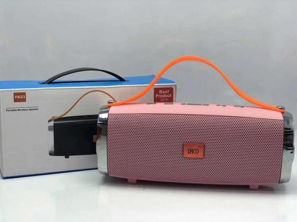 2019 Bluetooth сабвуфер динамик Беспроводной Bluetooth зарядка 2 + глубокий сабвуфер стерео портативные колонки с розничной коробке IHOO FK23
