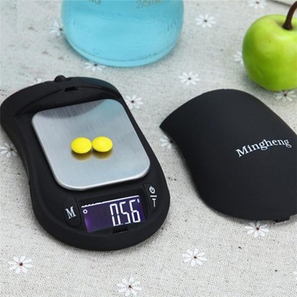 Escala digital portátil de alta precisión oculta - Ratón - Escala de cocina Escala para pesaje de utensilios de cocina bilancia da cucina food