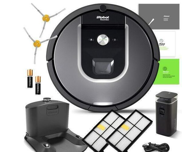 Authent iRobot Roomba 960 Robotic Vacuum Cleaner Wi-Fi Connectivity Manufacturers Warranty Extra Sidebrush Extra Filter Bundle Outlet Online
