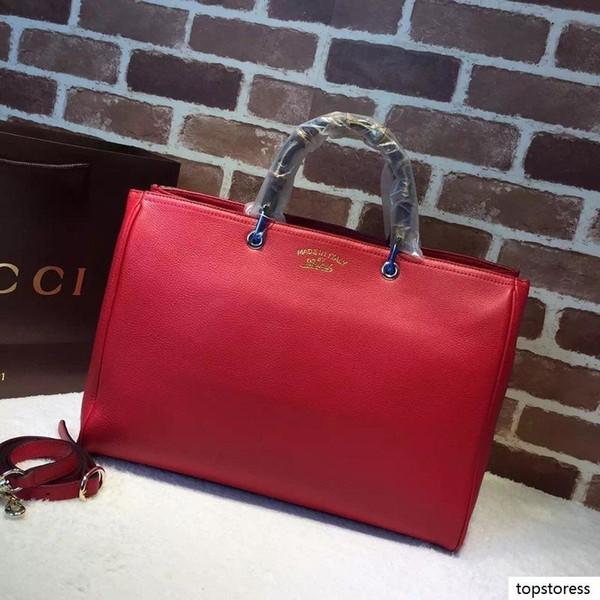 Luxury Top Quality Design Письмо Тиснение сумки Большие Покупки сумка Женщины из натуральной кожи 323658 Xxxl Дорожная сумка