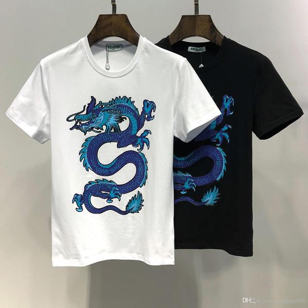 newest 30 styles High quality ken Tiger Head Cloth Embroidered T-Shirt Men Women Short Sleeve Summer Cotton Tees Skateboards Shirt Floral Tr