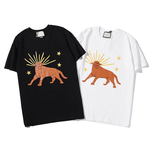 2019 nueva llegada Hombres Mujeres camisetas del diseñador de moda Marca Big G de la letra de impresión blusas de manga corta verano ocasional del O-Cuello camiseta LJJ198308