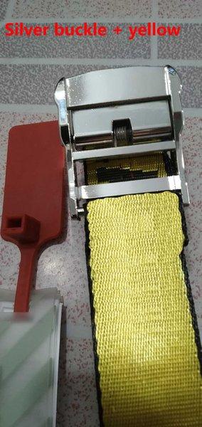 الفضة مشبك + حزام أصفر