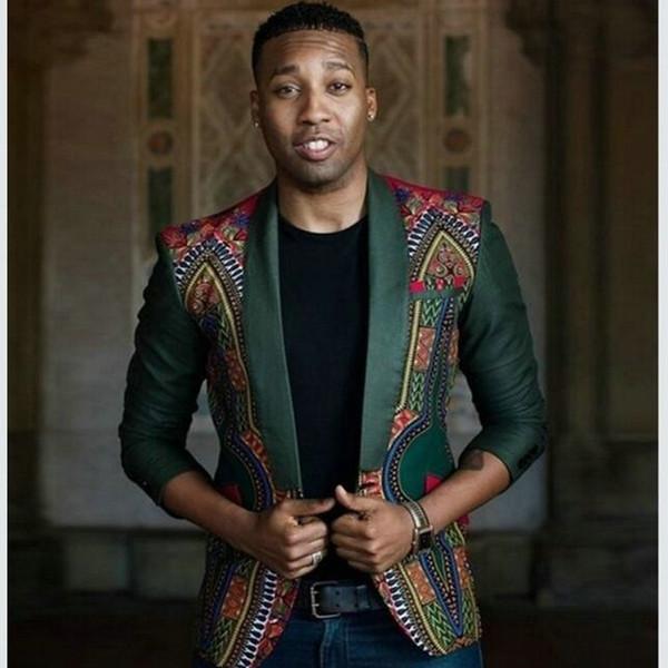2019 Hiver New Mix Laine Blazers Hommes De Mode Imprimés Costumes Homme Simple Bouton Vestes Haute Qualité Manteaux Vêtements mf-11
