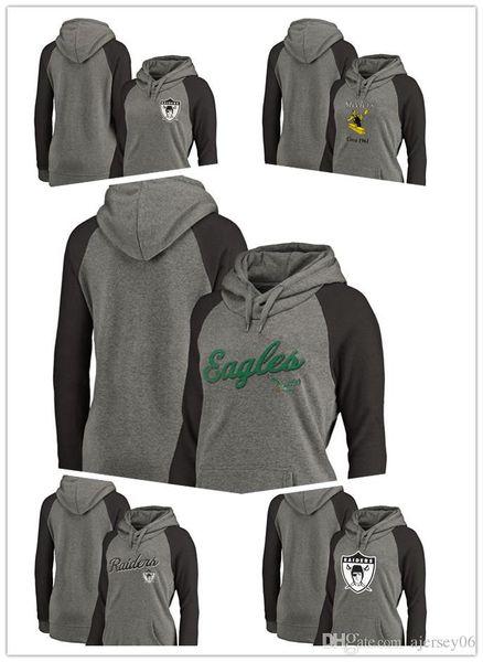 size 40 97b2f 0de05 2019 2018 New Clothing 01 Eagles Steelers Pro Line By Branded Women'S Logo  Tri Blend Raglan Plus Size Pullover Hoodie Gray Black Sweatshirt From ...