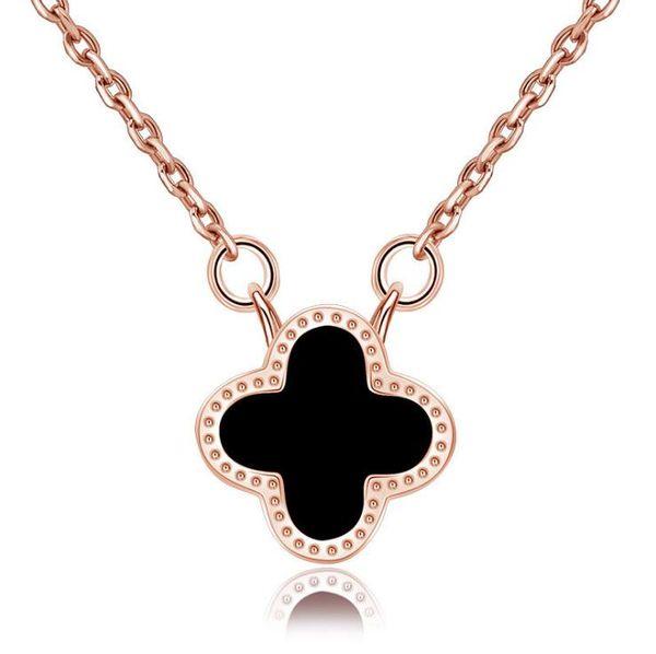 Black+Rose Gold Necklace